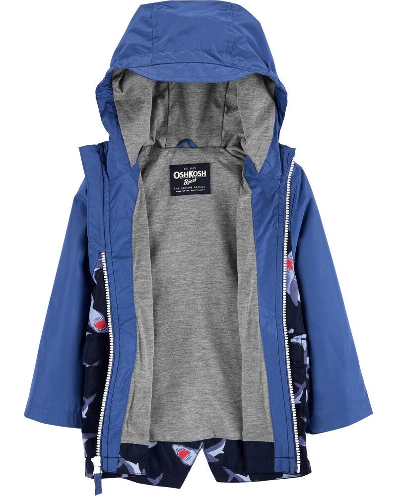 Shark Colour Change Rain Jacket, , hi-res