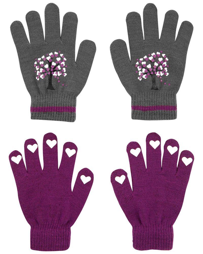 Emballage de 2 paires de mini gants arbre cœur KOMBI, , hi-res