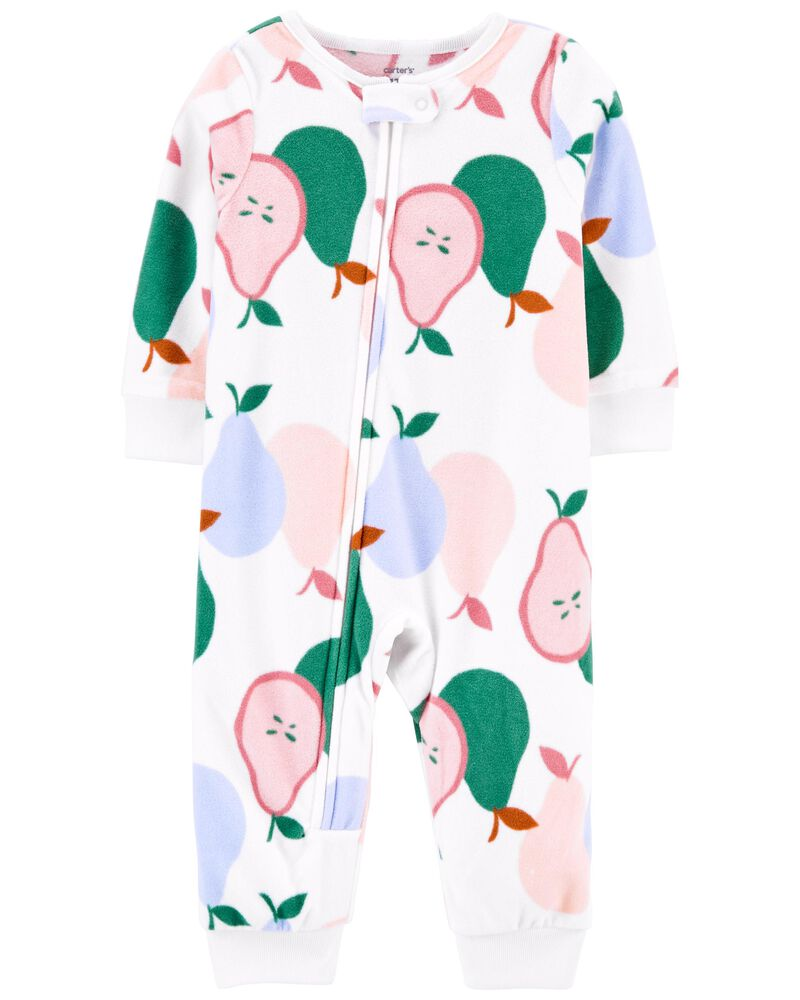 1-Piece Pear Fleece Footless PJs, , hi-res