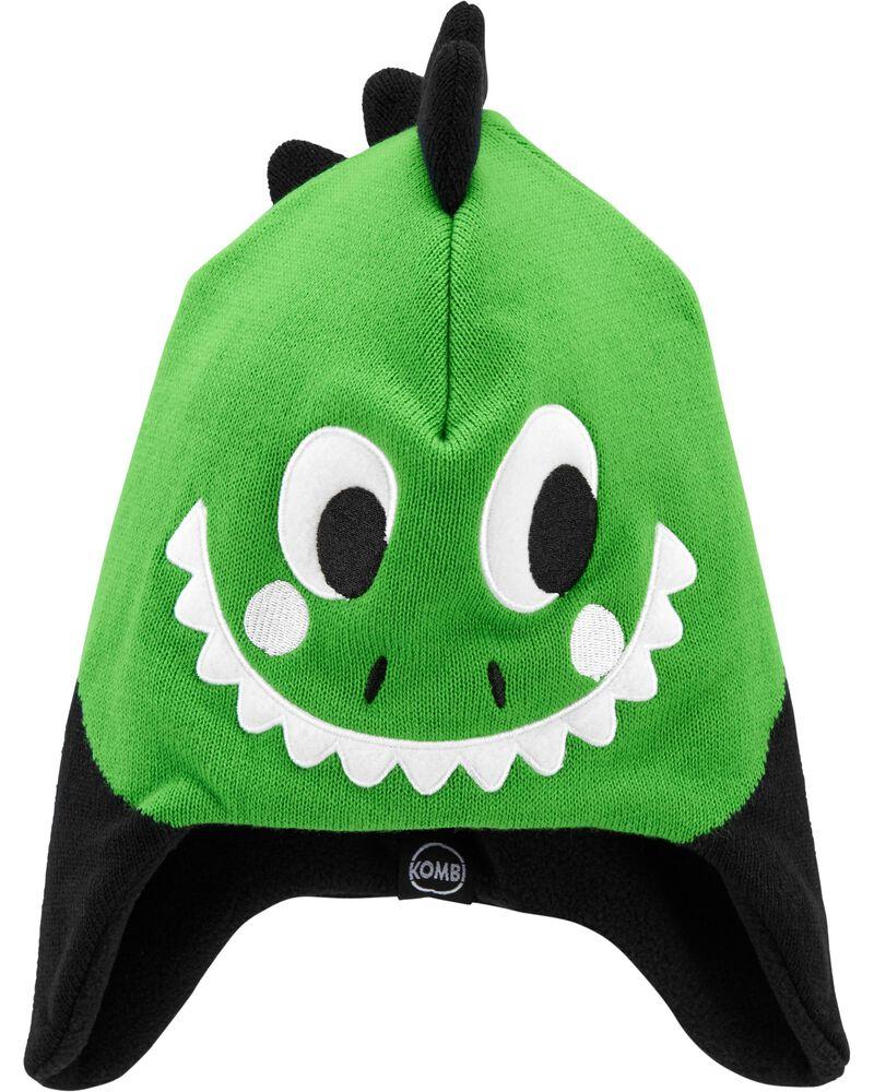 Kombi Fleece-Lined Sam The Dinosaur Knit Hat, , hi-res