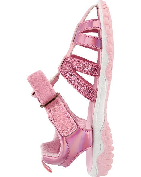 Sandales de style pêcheur scintillantes