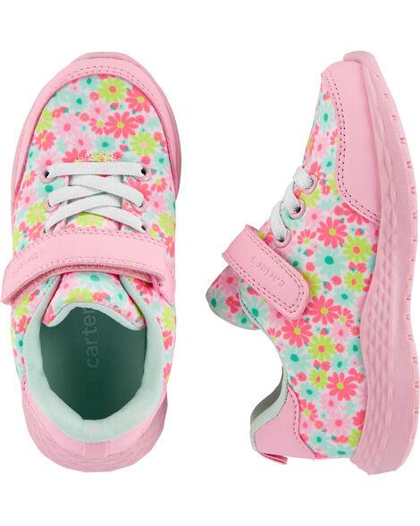 Chaussures de sport à motif fleuri