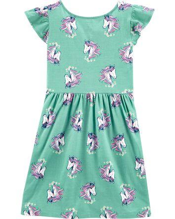 Unicorn Faux Wrap Dress