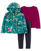 3-Piece Floral Little Cardigan Set, , hi-res