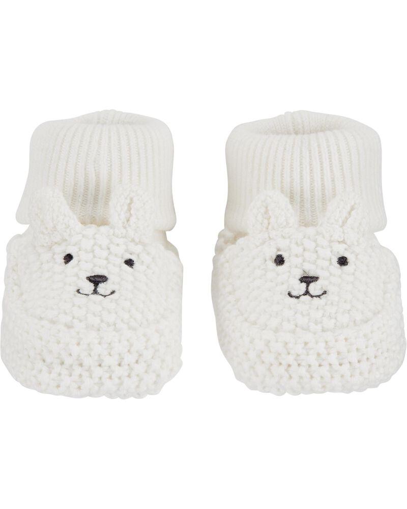 Bear Baby Booties, , hi-res