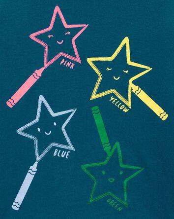 T-shirt en jersey étoiles aux crayo...