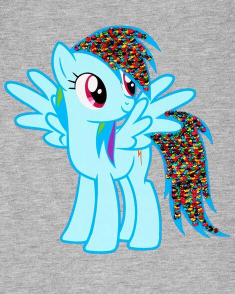 T-shirt Ma Petite Pouliche à paillettes réversibles