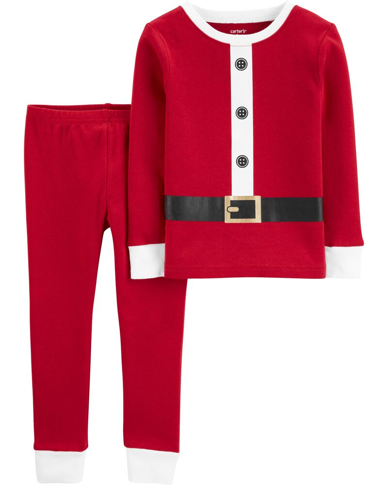 2-Piece Santa Suit Snug Fit Cotton PJs, , hi-res