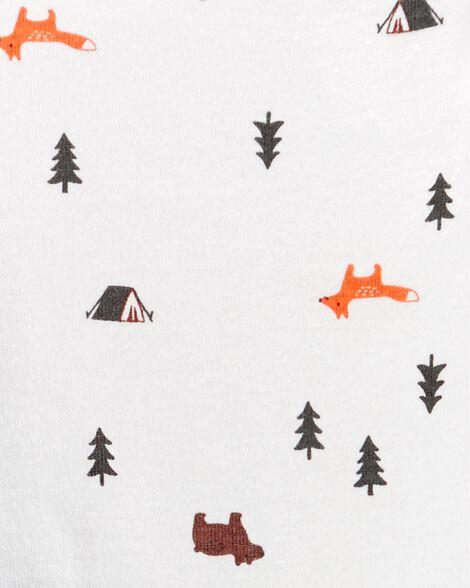 Ensemble 3 pièces chandail à motif camping
