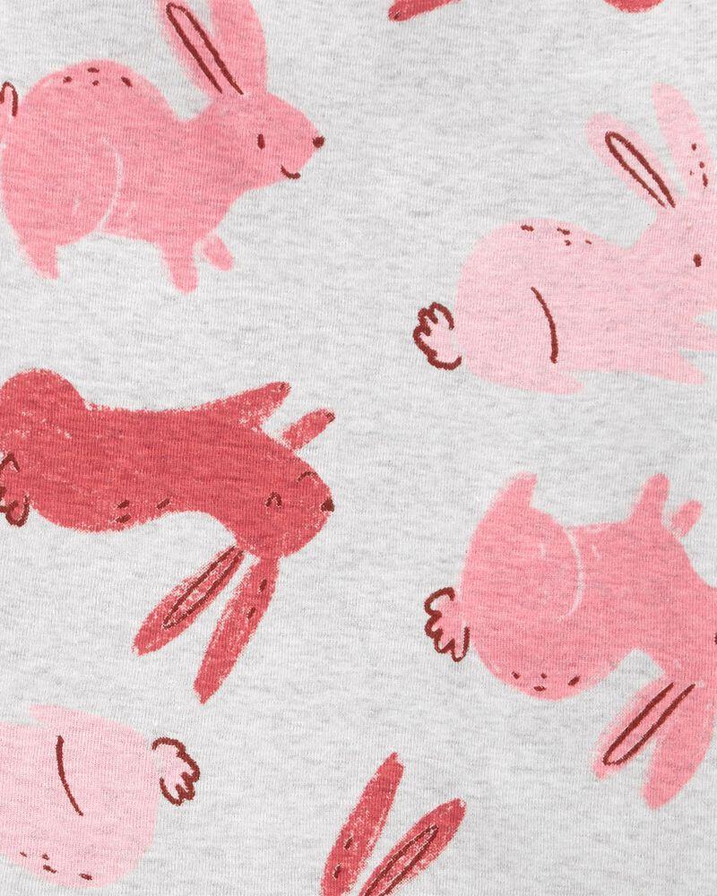 4-Piece Bunny 100% Snug Fit Cotton PJs, , hi-res