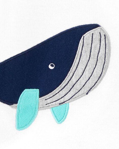 3-Piece Whale Little Short Set