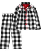 2-Piece Holiday Coat-Style PJs, , hi-res