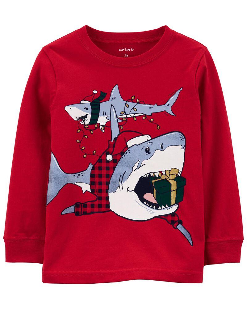 Holiday Shark Jersey Tee, , hi-res