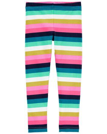 Legging à rayures multicolores