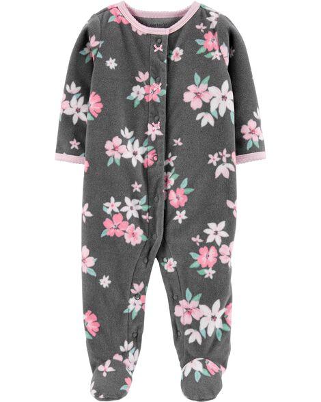 Floral Snap-Up Fleece Sleep & Play