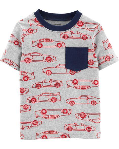T-shirt en jersey à poche motif voiture de course