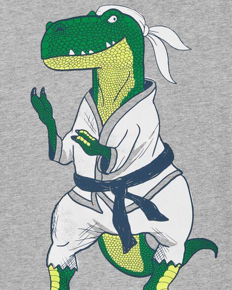 Karate Dinosaur Jersey Tee