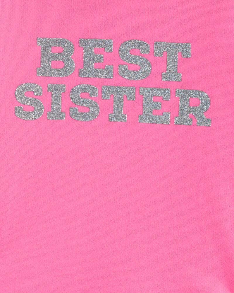 2-Piece Glitter Best Sister Hoodie & Tie-Dye Legging Set, , hi-res