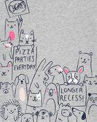 T-shirt en jersey à motif d'animal, , hi-res