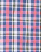 Ensemble 2 pièces chemise boutonnée à motif écossais et short , , hi-res