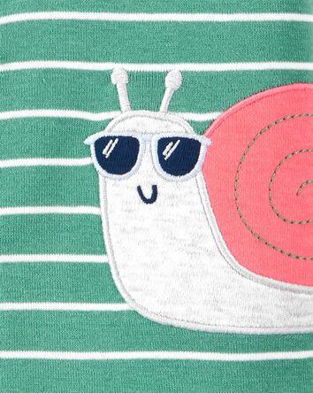 Snail Snap-Front Romper
