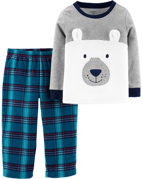 2-Piece Bear Fleece PJs