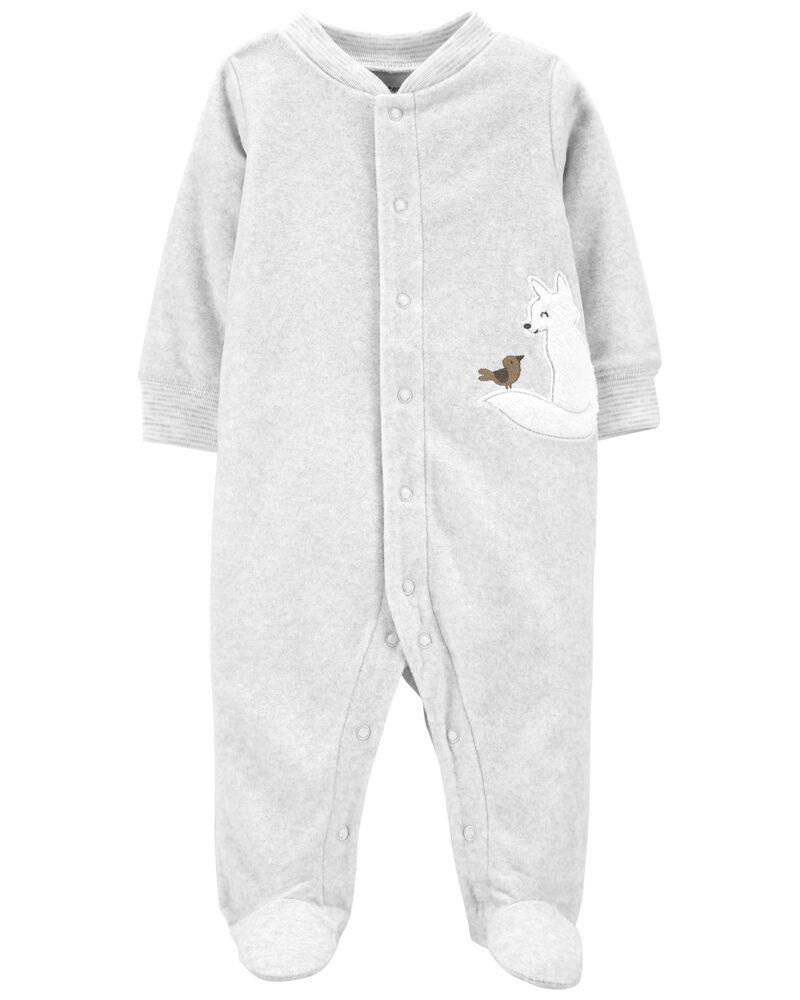 Fox Snap-Up Fleece Sleep & Play, , hi-res