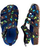 Sandales de pêcheur en liège avec dinosaure, , hi-res
