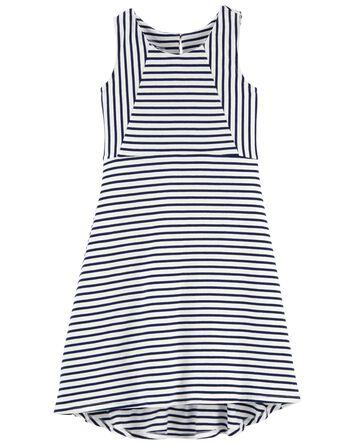 Striped Hi-Lo Dress