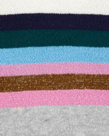Sparkle Stripe Mock Neck Sweater
