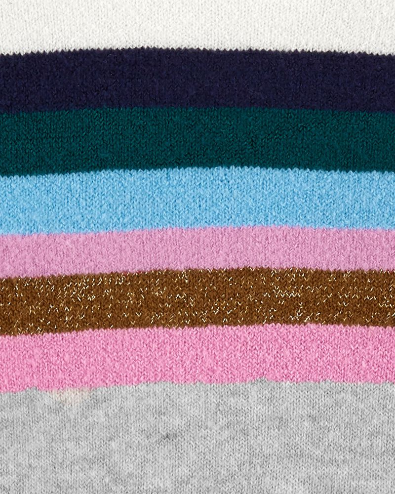 Sparkle Stripe Mock Neck Sweater, , hi-res