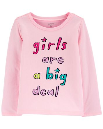 T-shirt en jersey Girls Are A Big D...