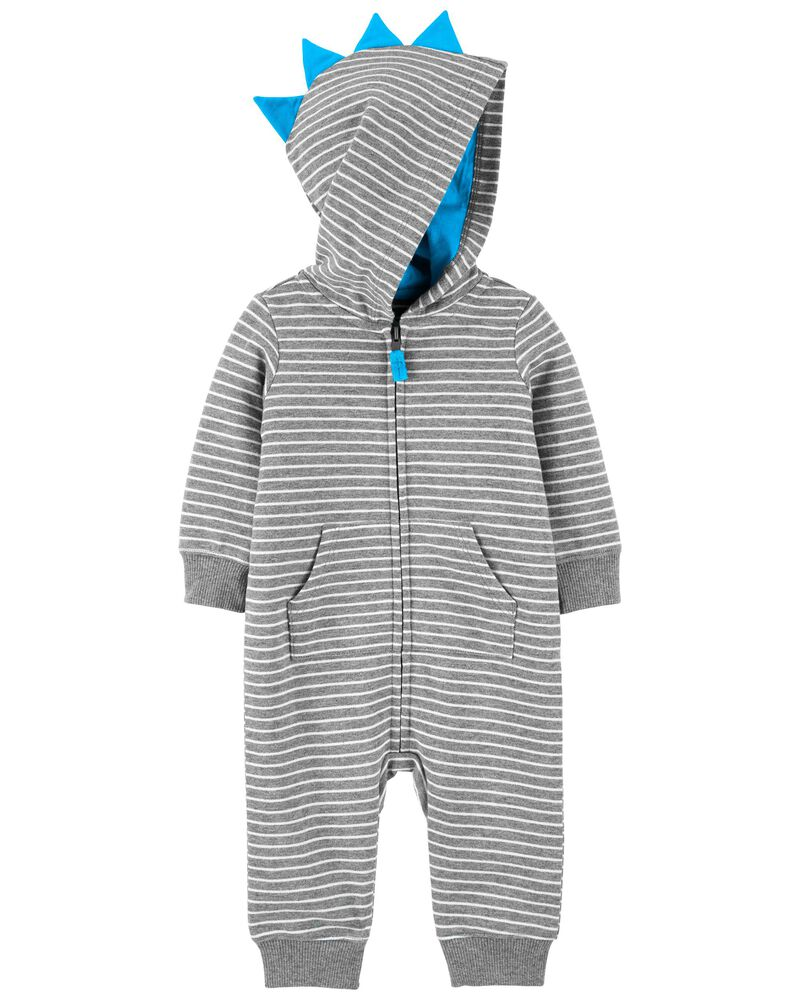 Zip-Up French Terry Jumpsuit, , hi-res
