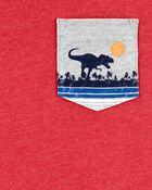 T-shirt avec poche à tyrannosaure, , hi-res