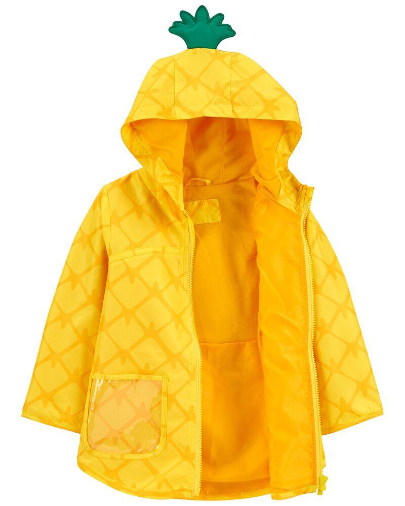 Pineapple Print Rain Jacket, , hi-res