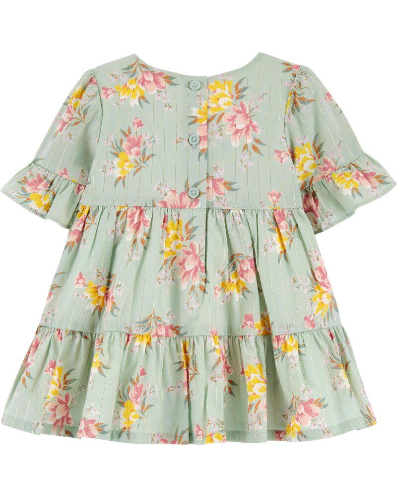 Tiered Floral Dress, , hi-res