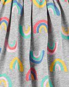 Ensemble 2 pièces robe à arc-en-ciel et legging, , hi-res