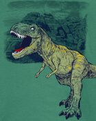 T-shirt en jersey à imprimé de tyrannosaure, , hi-res
