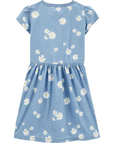 Daisy Bow Chambray Dress