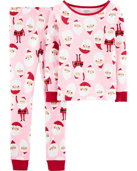2-Piece Santa Snug Fit Cotton PJs