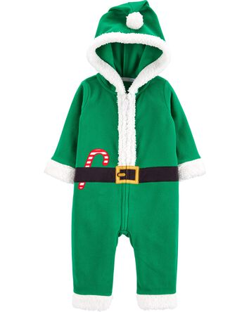 Christmas Elf Zip-Up Jumpsuit
