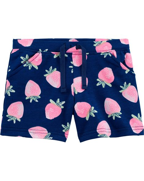 Strawberry Pull-On French Terry Shorts