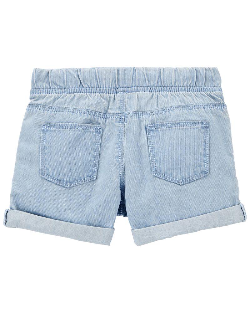 Pull-On Denim Shorts, , hi-res