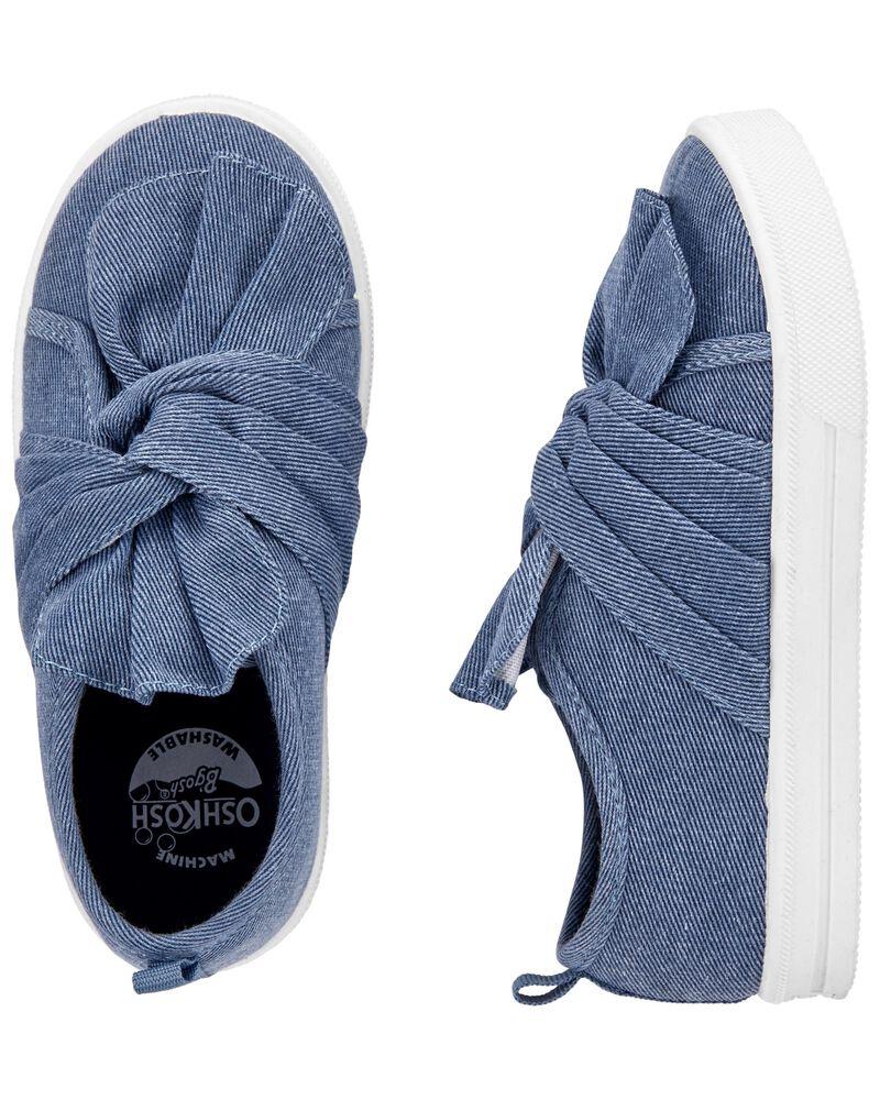 Chaussures à enfiler à tourbillon en chambray, , hi-res