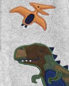 Grenouillère en molleton à glissière dinosaure , , hi-res