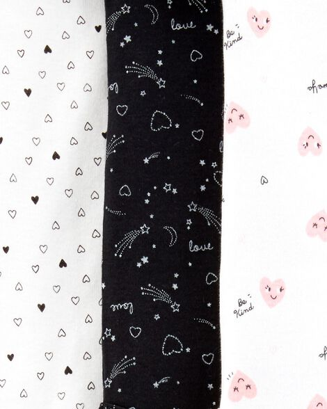 5-Pack Heart Original Bodysuits