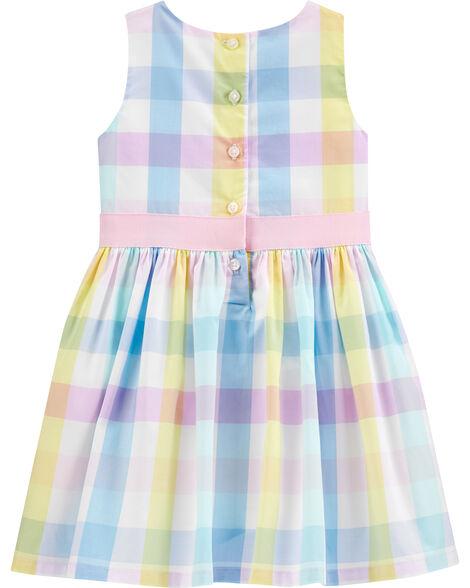 Plaid Sateen Dress