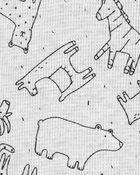 Ensemble 2 pièces cache-couche et pantalon à imprimé animalier, , hi-res