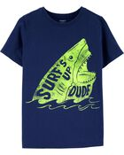 T-shirt en jersey Surf's Up Shark, , hi-res