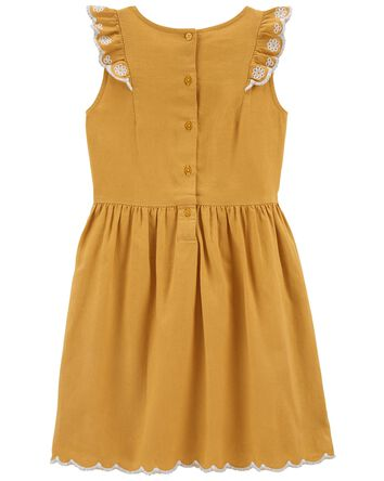 Ruffle Linen Dress